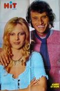 POSTER GEANT 890 X 580  - JOHNNY HALLYDAY Et SYLVIE VARTAN - HIT MAGAZINE- Signes Zodiaque Au Verso -1973 - Posters