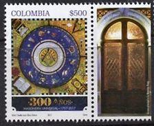 103 COLOMBIE 2017 - 300 Ans La Porte - Masonic Franc Maconnerie Freemasonry Freimaurerei, Neuf ** (MNH) - Franc-Maçonnerie