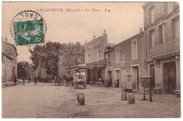 CELLENEUVE - La Place -  ( Café VALEZ ..) - France