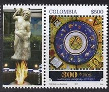 103 COLOMBIE 2017 - 300 Ans Sculpture En Pierre - Masonic Franc Maconnerie Freemasonry Freimaurerei, Neuf ** (MNH) - Massoneria