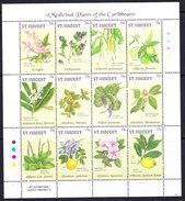 St. Vincent 1992 Medicinal Plants Of The Caribbean 12v In Sheetlet ** Mnh (36716) - St.Vincent (1979-...)