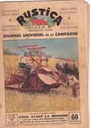 RUSTICA La Moissonneuse-Lieuse  Agriculture Travaux Des Champs Moissons (2 Scans) - Nature