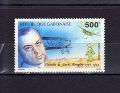 """Gabon Poste Aérienne Antoine De Saint-Exupéry, Avion Et """"Le Petit Prince"""" - Avions"""