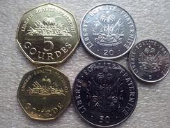 Haiti Set :1,5 Gourdes ; 5,20,50 Centimes    1995-2013    UNC - Haiti
