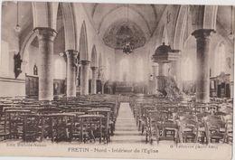 FRETIN  (59) - CPA - Interieur De L'église - Other Municipalities