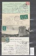 Lettre   Ambulant Paris à Rouen : 4 Piéces ; Bons Cachets - Postmark Collection (Covers)