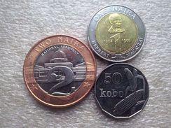 Nigeria  2006 Y. Set : 1,2 Naira ; 50 Kobo   UNC - Nigeria