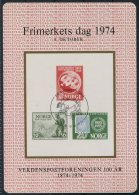 1974 Norway Frimerkets Dag, Stamp Day Souvenir Block - Blocks & Sheetlets