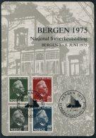 1975 Norway Bergen Stamp Exhibition Souvenir Block. Grieg Music - Blocks & Sheetlets