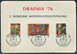 1977 Norway DRAFNIA Stamp Exhibition Souvenir Block. - Blocks & Sheetlets