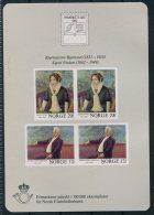 1982 Norway Frimerkets Dag, Bjornstjerne Bjornson, Sigrid Undset Stamp Day Souvenir Sheet - Blocks & Sheetlets