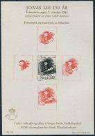 1983 Norway Souvenir Sheet Jonas Lie - Blocks & Sheetlets