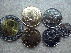 Namibia Set : 5 Cents - 10 Dollars  2010-2012    UNC - Namibia