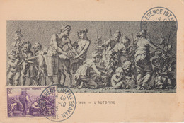 Carte-Maximum FRANCE N°Yvert 468 / Prud'hon- L'automne - 1940-49