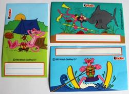 3 Stickers Kinder La Panthère Rose 1993 Mirisch Geoffrey The Pink Panther - Vignettes Autocollantes