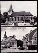 2 X GROOT BIJGAARDEN -- GEMEENTEPLEIN EN PAROCHIEKERK - Dilbeek