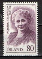 ISLANDA - 1979 - PERSONALITA' ISLANDESI: I.H. BJARNASON - NUOVO MNH - 1944-... Repubblica