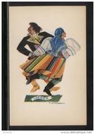POLAND TANCE (Z STRYJENSKA) DESIGN 1 - POLISH DANCES - OBEREK MINT POSTCARD FOLK NATIONAL COSTUMES Cultures - Danze