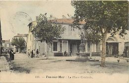 - Depts Div.-ref-RR500- Bouches Du Rhone - Fos Sur Mer - La Place Centrale - Hotel - Cafe - Epicerie - Hotels - Cafes - - Autres Communes