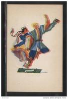 POLAND TANCE (Z STRYJENSKA) DESIGN 2 - POLISH DANCES - MAZUR MINT POSTCARD FOLK NATIONAL COSTUMES Cultures - Danze