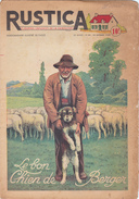 RUSTICA Un Bon Chien De Berger Dog Battues De Lièvres Chasse (4 Scans) - Nature