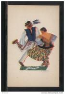 POLAND TANCE (Z STRYJENSKA) DESIGN 4 - POLISH DANCES - GORALSKI MINT POSTCARD FOLK NATIONAL COSTUMES Cultures - Danze
