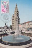 Carte  Maximum  1er  Jour   Tour  Abbatiale    SAINT  AMAND  LES  EAUX   1977 - Cartes-Maximum