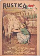 RUSTICA La Traite Mécanique Dans Les Petites Exploitations Vache Bovin Lait (2 Scans) - Nature