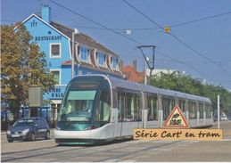 Tramway Citadis Alstom De Strasbourg (ligne A), à Illkirch-Graffenstaden (67) - - France