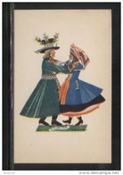 POLAND TANCE (Z STRYJENSKA) DESIGN 8 - POLISH DANCES - KUJAWIAK MINT POSTCARD FOLK NATIONAL COSTUMES Cultures - Danze