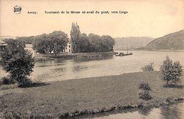 Amay - Tournant De La Meuse En Aval Du Pont, Vers Liège (animée, Légia, Mât Péniche...) - Amay
