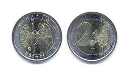 ESPAÑA 2€ Euro DON QUIJOTE 2005 (utilisée-used TTB) / UNIQUEMENT POUR PAYER PAYPAL - Spain