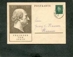 Deutsches Reich Postkarte P193 1931 Zugstempel - Germany