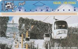 ARGENTINA - San Martin De Los Andes/Cable Railway 3(100F) PO 17, L&G POPI Telecard, CN : 407E, Tirage 4000, Mint - Argentinien