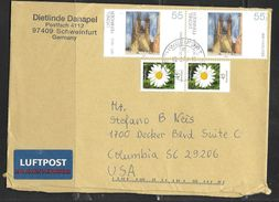 2008 (13.2.08) Schweinfurt To South Carolina USA - Painting Stamps - [7] Federal Republic