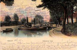 Gouda - Hollandsche Yssel (gekleurd, Uitg. J T Swartsenburg, 1904) - Gouda