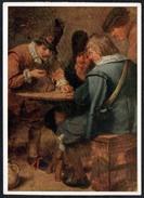 A6499 - Alte Künstlerkarte - Adriaen Brouwer - Würfelde Soldatent - Kalender - Rembrandt Und Seine Zeit 1962 - Non Classificati