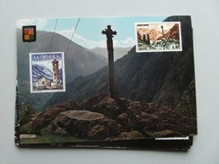 Andorra Andorre Panorama Valls D'Andorra With Cross - Andorra