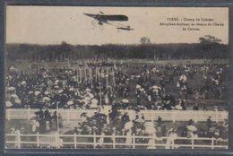 Carte Postale 61. Flers  Aéroplane évoluant Au Dessus Du Champ De Courses  Trés Beau Plan - Flers