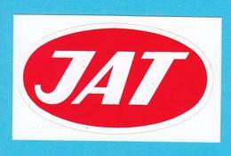 JAT - YUGOSLAV AIRLINES ... Vintage Official Sticker * National Airways * Plane * Avion * No. 4 - Aufkleber