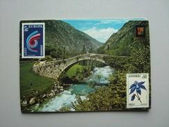 Andorra Andorre Panorama Valls D'Andorra With Bridge - Andorra