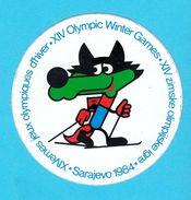WINTER OLYMPIC GAMES SARAJEVO 1984. Mascot Vucko  ( Bosnia Ex Yugoslavia ) Vintage Sticker * Jeux Olympiques Autocollant - Apparel, Souvenirs & Other