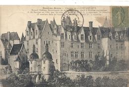 BESSE-SUR-BRAYE . CHATEAU DE COURTANVAUX + HIST . AFFR EN 1920. VERSO PASSE AU BLANC . 2 SCANES - France