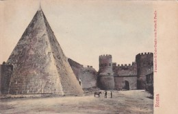 Italy Roma Rome Piramide di Caio Cestio con San Paolo