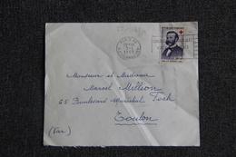 Enveloppe Envoyée De PARIS  à TOULON ( YT / 1188 ) - 1921-1960: Modern Period