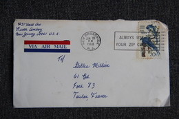 Enveloppe Envoyée De BRUNSWICK ( New Jersey) à TOULON. - Luftpost