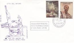 Vatikan FDC/ET 1967 Mi: 523 + 527. 1900.Jahrestag Der Martyrien Der Heiligen Peter Und Paul. - Religions