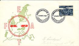 Denmark FDC 2-3-1967 EFTA With Cachet - FDC