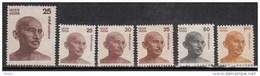India MNH 6 Diff., Gandhi, 1976, 1978, 1980, 1988, 1991, Definitives, Definitive, - India