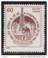 India MNH 1989, Indian Oil Production, Energy, Elephant, Tree - Inde